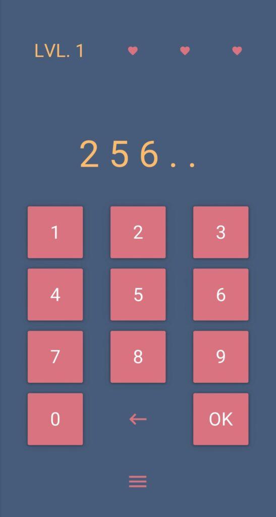 Enter correct number