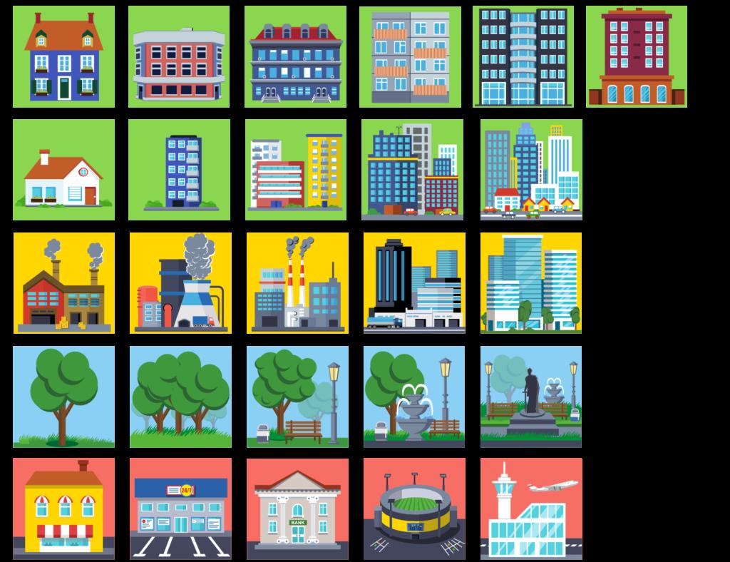 City Management icons